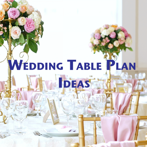 Wedding breakfast table plan ideas
